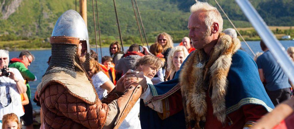 Høvdingen møte en tilreisende høvding