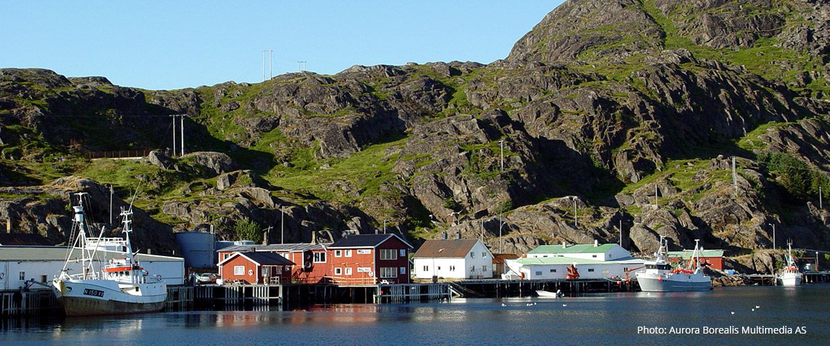Mortsund - et lite fiskevær på Vestvågøy