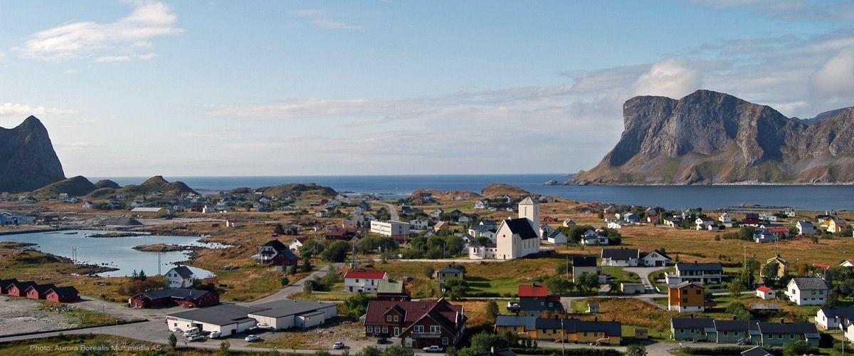 Sørland på Værøy i Lofoten