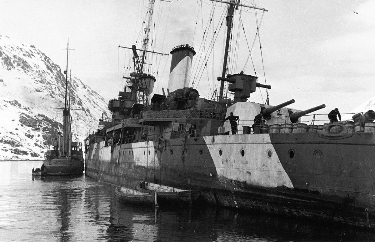 HMS Penelope i Skjelfjorden
