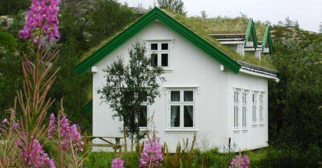 Kabelvåg Feriehus og Camping med sine nyrestaurerte Nordlandshus
